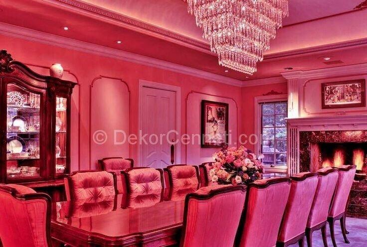 12 kişilik yemek odası