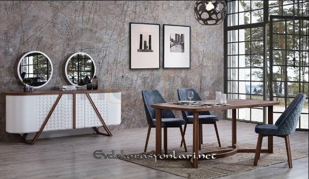 2018 modern yemek odasi mobilya modelleri