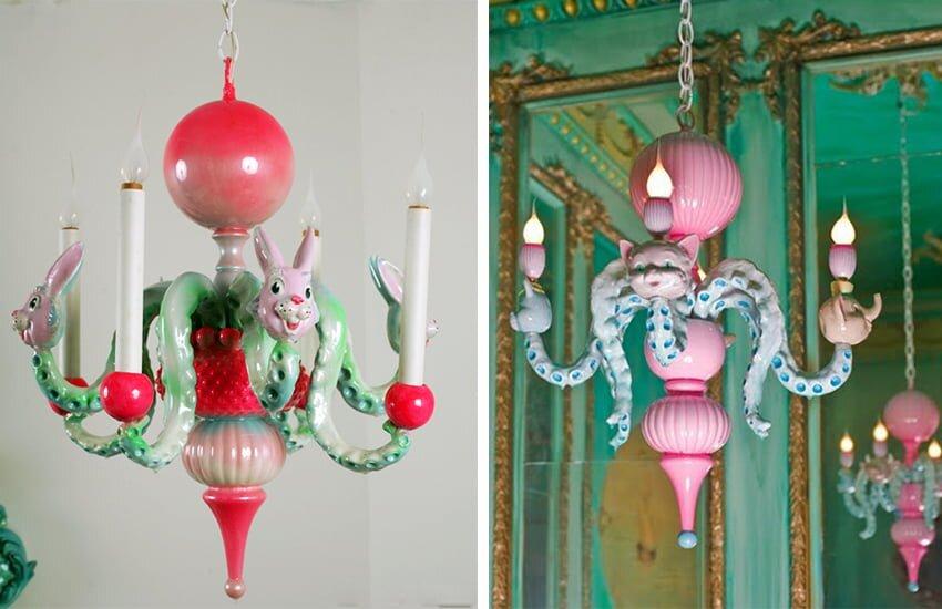 2019 cocuk odasi dekoratif ahtapot avizeler