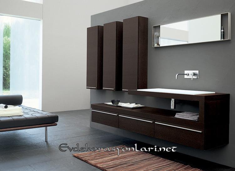 2019 dekoratif banyo dolap modelleri