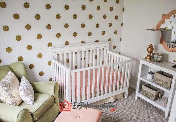 2019 dekoratif desenli bebek odasi duvar kagidi modeli