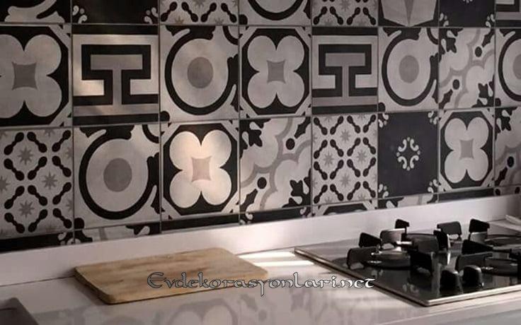 2019 dekoratif desenli tezgah arasi seramik modelleri