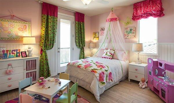2019 Rengarenk Dekoratif Çocuk Odası Perde Modelleri