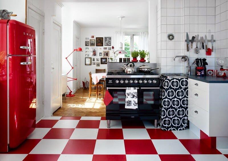 2019 retro mutfak dekorasyon modelleri