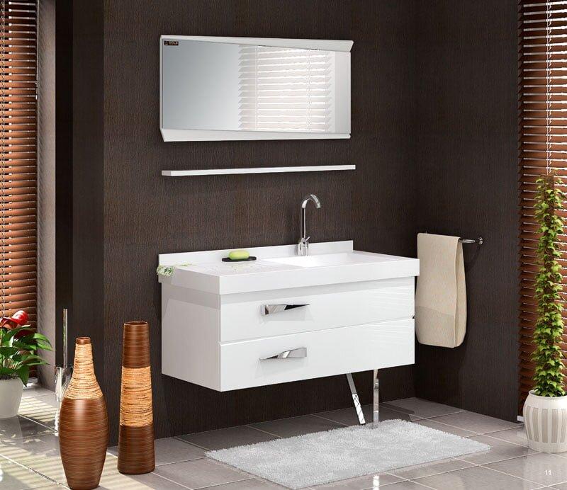 2019 tekzen beyaz modern banyo dolabi modeli