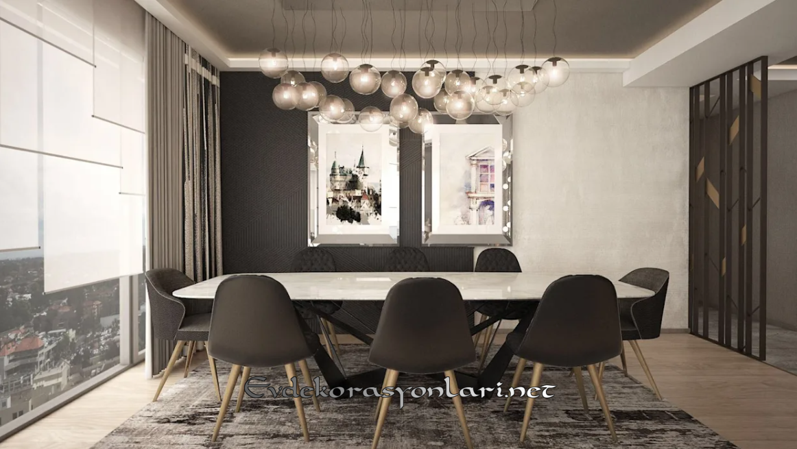 Modern Yemek Odası Dekorasyonu
