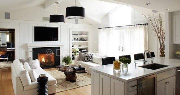 açık mutfak düzenli oturma odaları