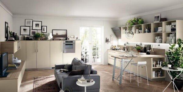 açık mutfaklarda dekorasyon