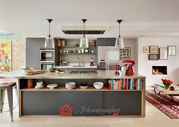 acik mutfak dekorasyon ornegi