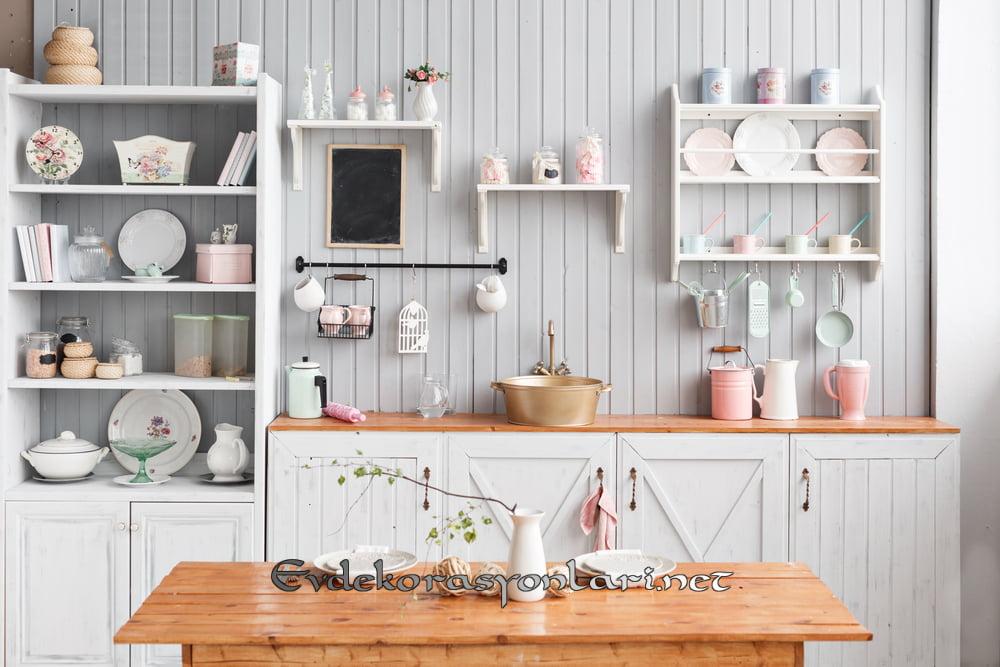 acik rafli mutfak dekorasyon fikirleri 2019