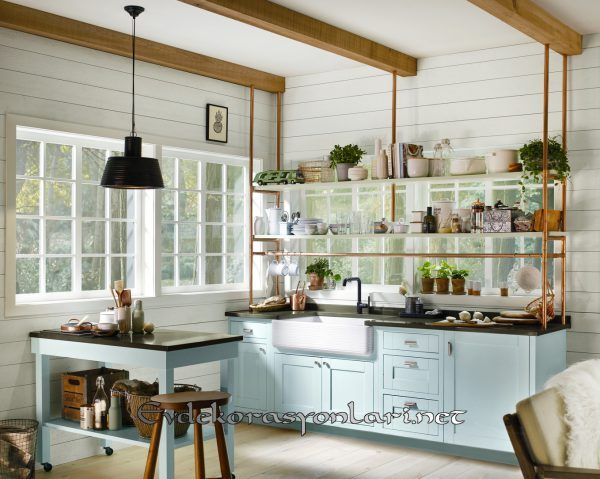 acik rafli mutfak dekorasyon onerileri