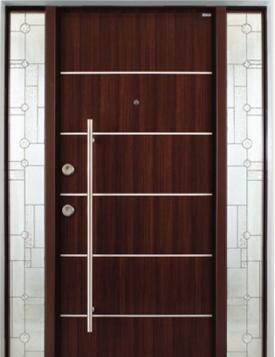 ahşap görünümlü çelik kapılar