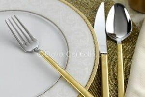 altın kaplama çatal bıçak takımı