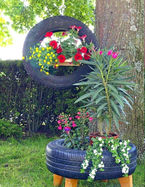 Araba Lastiğinden Bahçe Dekoru Nasıl Yapılır
