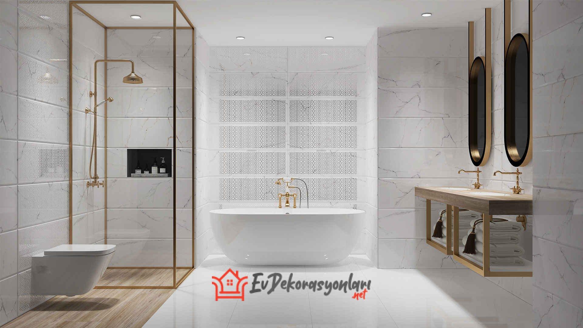 Banyo Farklı Fayans Modelleri