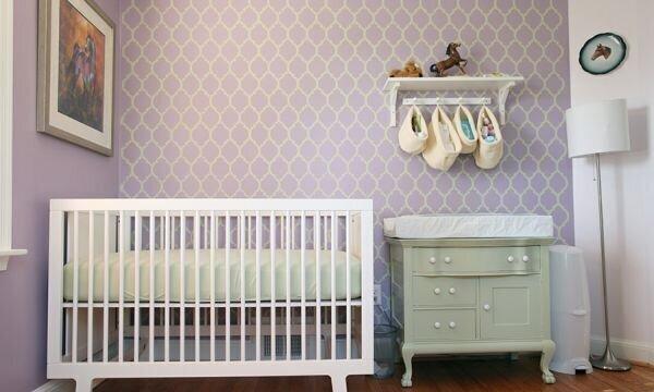 Lila Rengi Bebek Odası