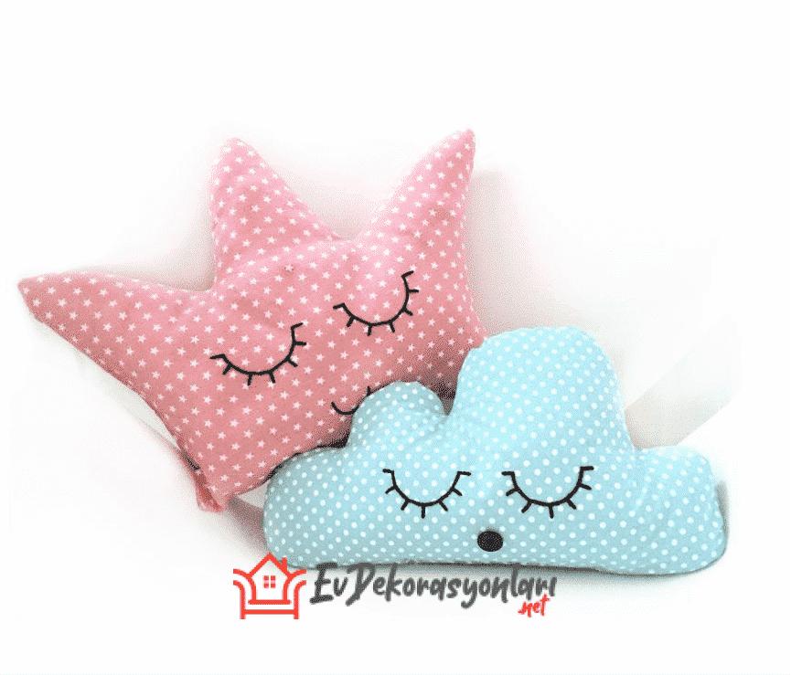 bebek odasi bulut yastik modelleri