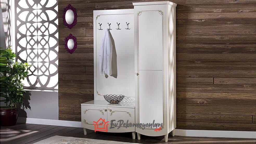 bellona beyaz portmanto modeli