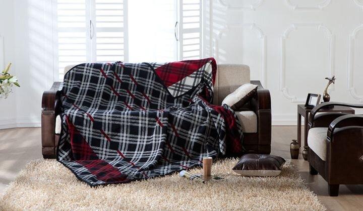 bellona ekose desenli softy battaniye modeli