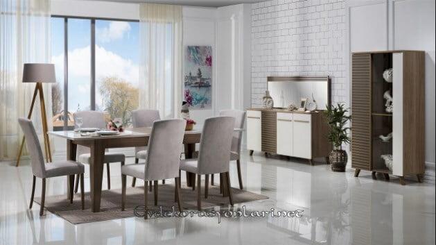 bellona mobilya violet yemek odasi takimi modeli