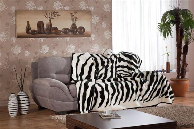 bellona softy zebra desen battaniye modeli