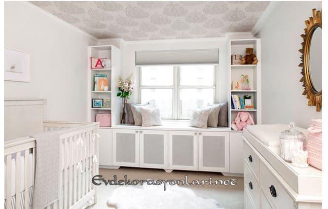 beyaz bebek odasi dekorasyonu