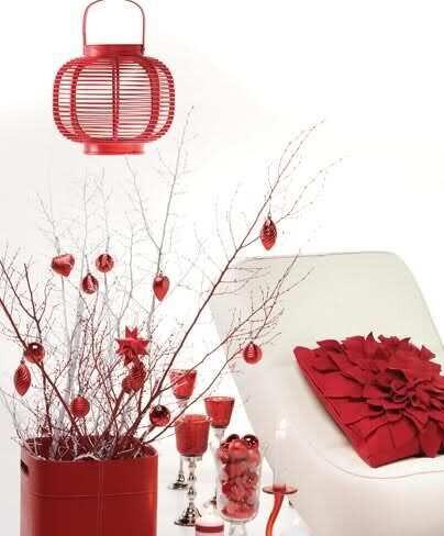 beyaz kırmızı dekorasyon