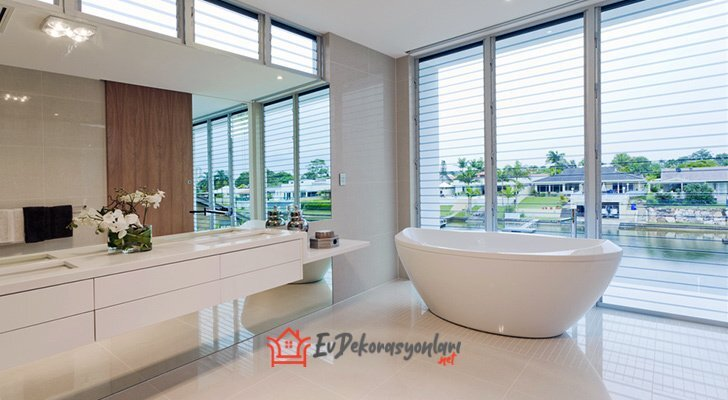 beyaz modern banyo kuvet modeli 2019