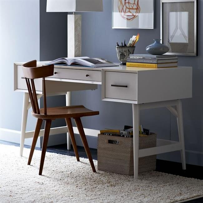 beyaz modern calisma masasi modeli 2019