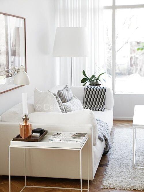beyaz modern koltuklar