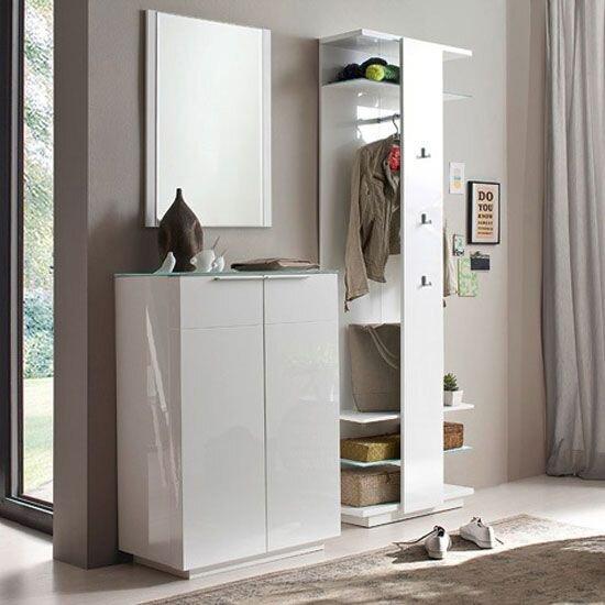 beyaz modern vestiyer modeli