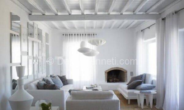 beyaz rahat salon dekorasyonları