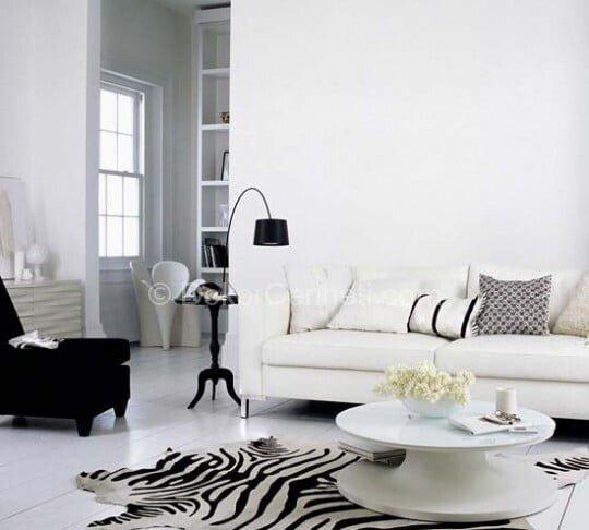 beyaz salon dekorasyonları