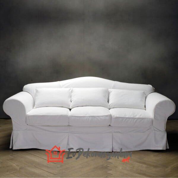 beyaz uclu koltuk kilifi modeli