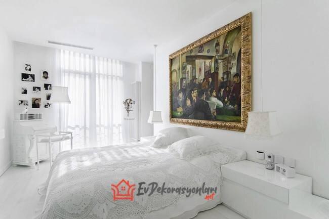 beyaz yatak odasi dekorasyon modelleri 2020