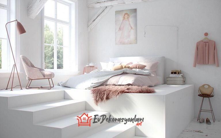 beyaz yatak odasi dekorasyon onerileri 2020