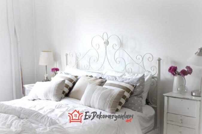 beyaz yatak odasi dekorasyonlari 2020
