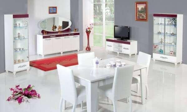 beyaz-yemek-odasi-takimlari