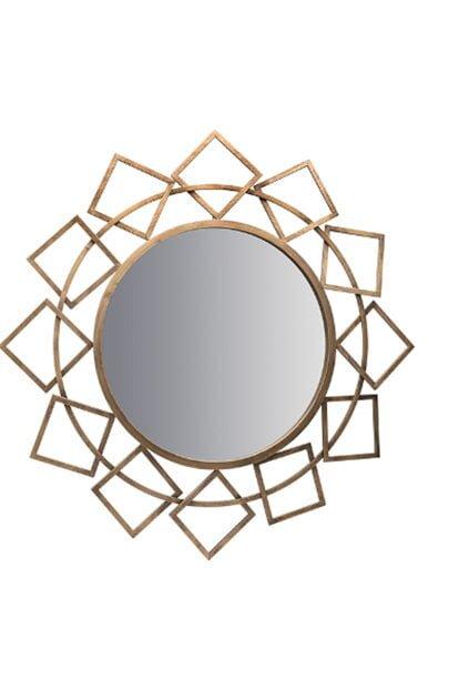 biev bakir metal cerceveli dekoratif ayna modeli