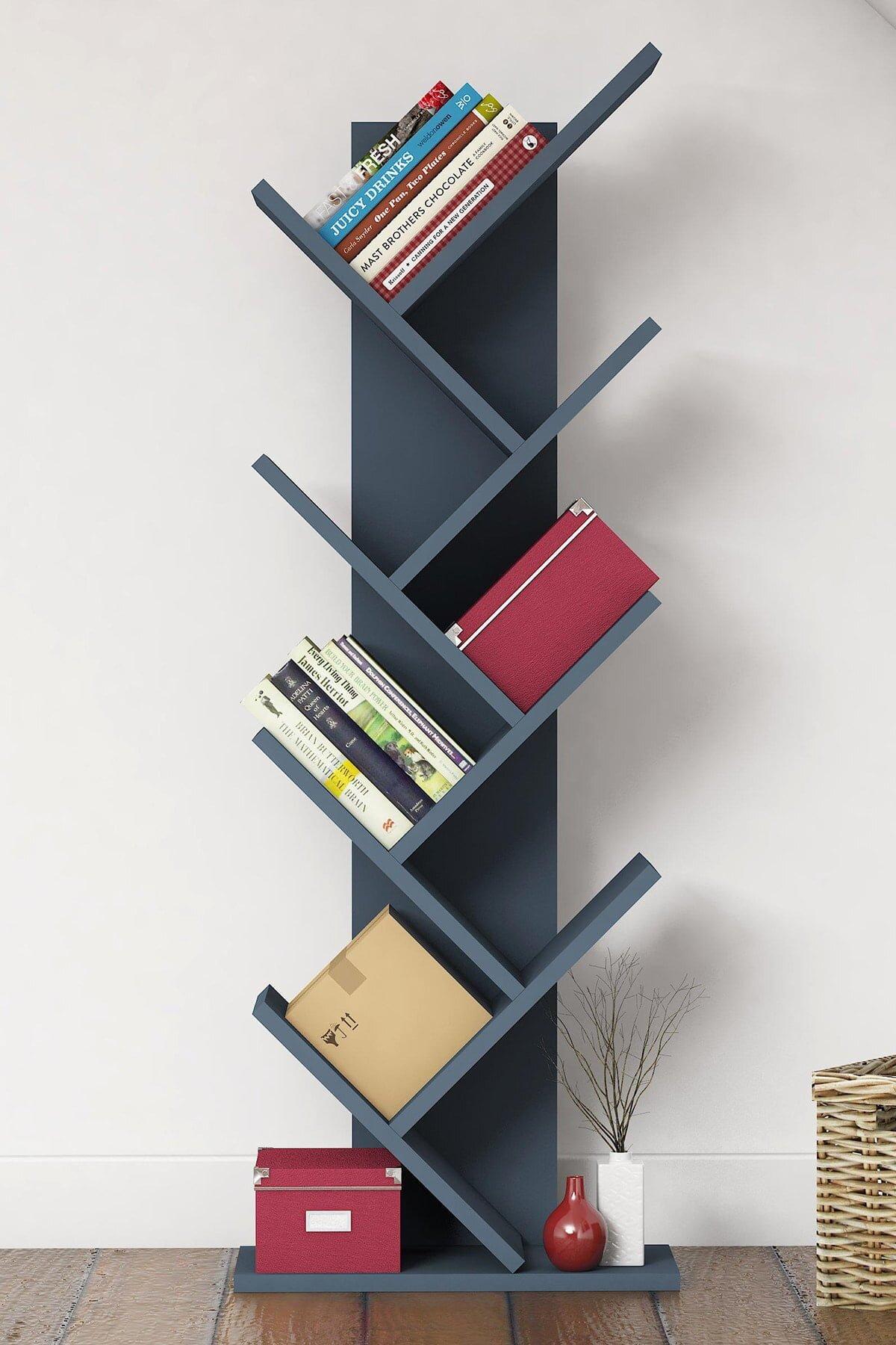 Birbirinden Farklı ve Renkli Duvar Kitaplık Modelleri