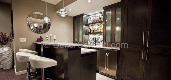 bodrumda mutfak dekorasyonu