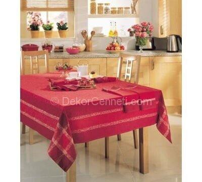 bordo mutfak masa örtüsü