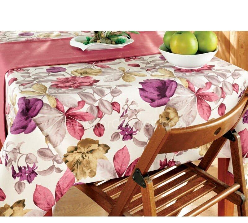 çiçek desenli mutfak masa örtüsü