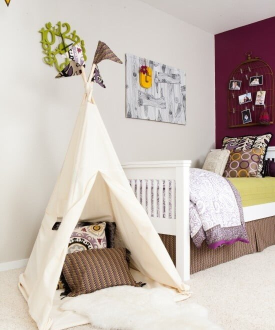 çocuk odasında çadır