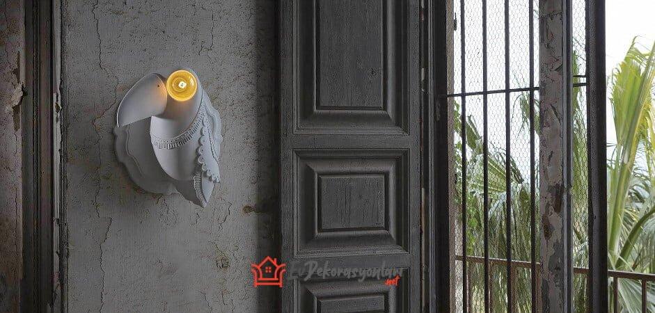 İtalyan tasarimi dekoratif duvar aplik modeli
