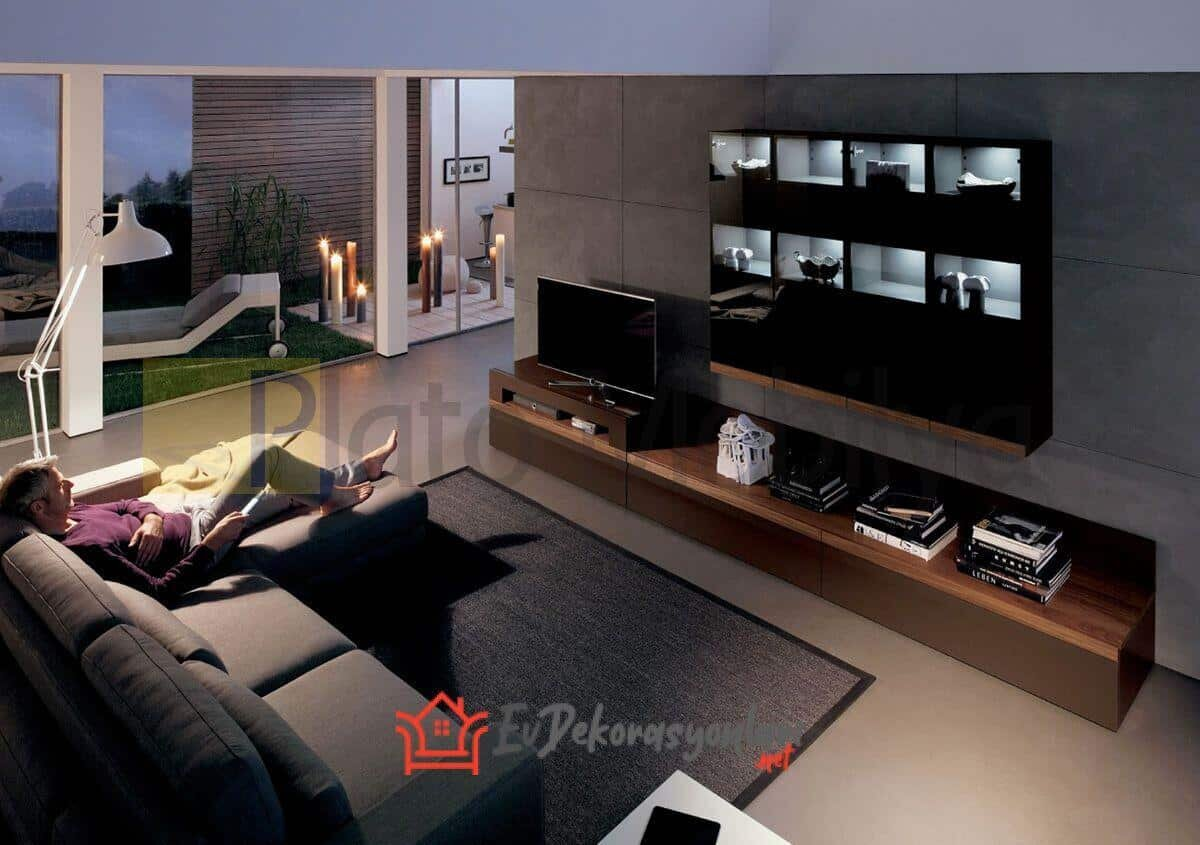 Işıklı TV Ünitesi Modelleri