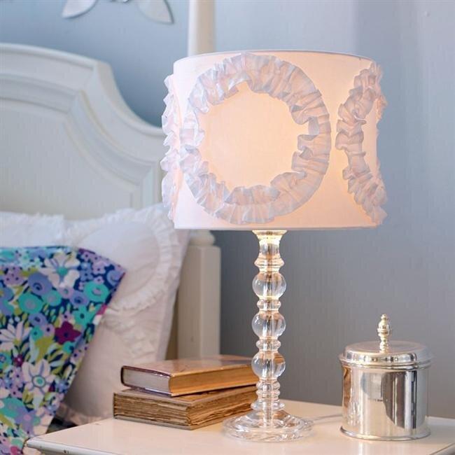 cam ayakli dekoratif abajur modeli