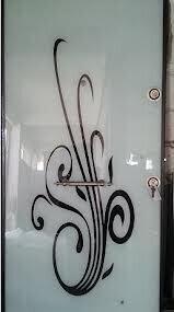 cam kaplama çelik kapı modelleri