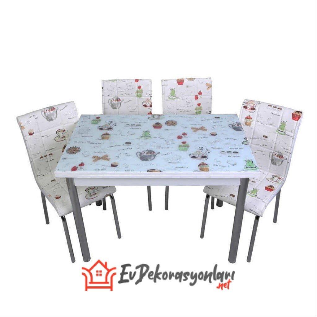 Cam Yemek Masası Takımları
