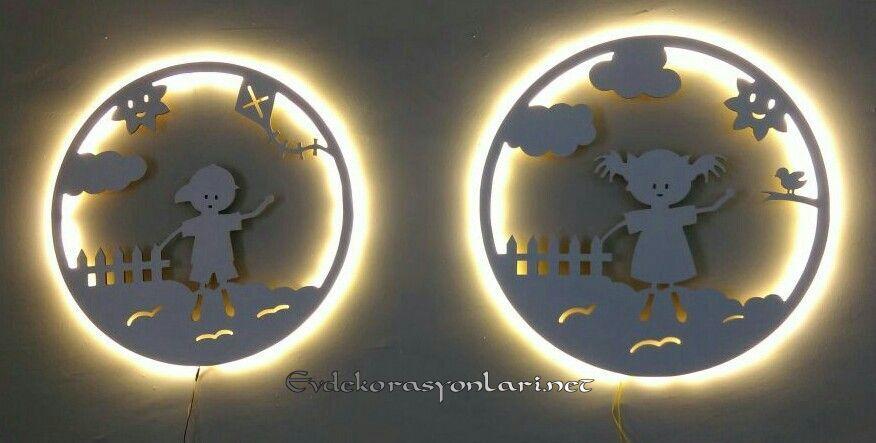 cocuk odasi dekoratif gece lambasi modelleri 2019